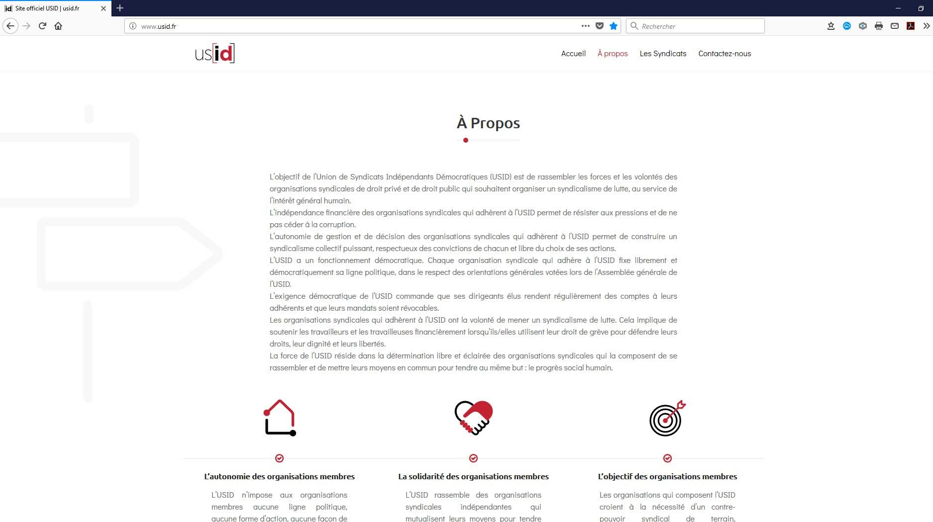 Naissance de L'USID : l'Union de Syndicats Indépendants Démocratiques